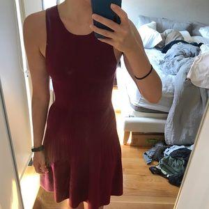 Burgundy Club Monaco sleeveless sweater dress